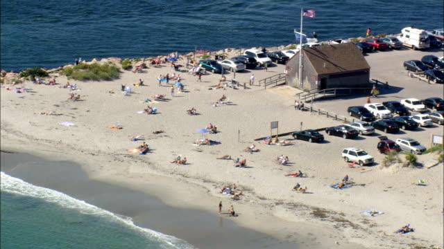 vidéos et rushes de galilée-vue aérienne, dans le rhode island, dans l'état de washington county, états-unis - rhode island