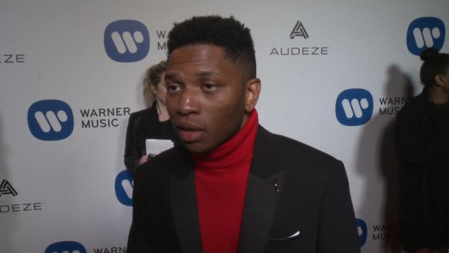 INTERVIEW Gallant on the event at Warner Music Group Grammy Party in Los Angeles CA