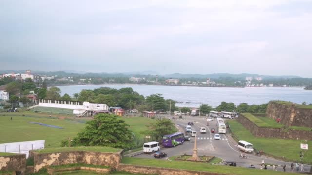 galle fort walls. sri lanka establishing shot - sri lankan culture stock videos & royalty-free footage