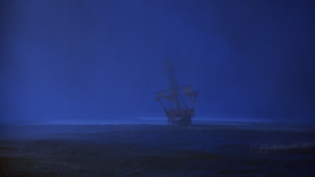 a galleon sails across the ocean during a storm. - weather stock videos & royalty-free footage