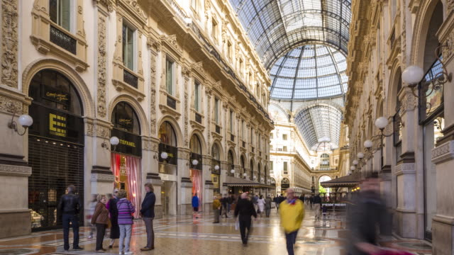 galleria vittorio emanuele ii in milan, italy. - 1865 stock videos & royalty-free footage