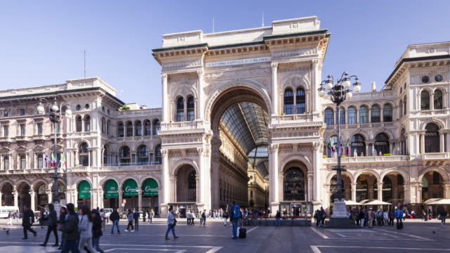galleria vittorio emanuele ii in milan, italy. - milan stock videos & royalty-free footage