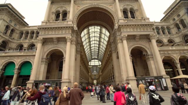 galleria vittorio emanuele ii in milan - galleria vittorio emanuele ii stock videos and b-roll footage