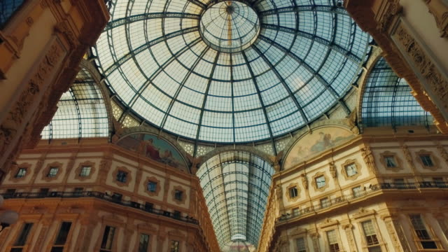 galleria vittorio emanuele ii, milano italy - architecture stock videos & royalty-free footage