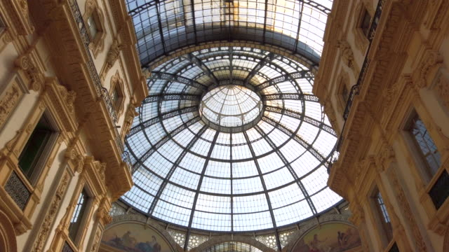 galleria vittorio emanuele ii - italian culture stock videos & royalty-free footage