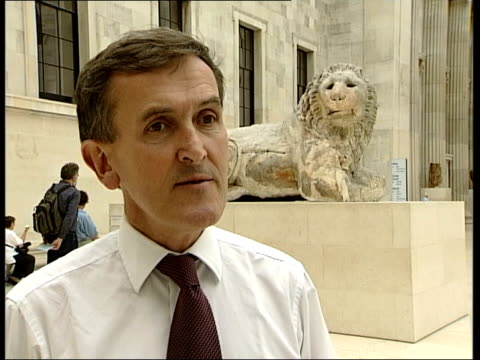galleries and museums: british museum celebrates 250th birthday; neil macgregor interview sot - greeks are asking for total permanent return of all... - neil macgregor stock videos & royalty-free footage