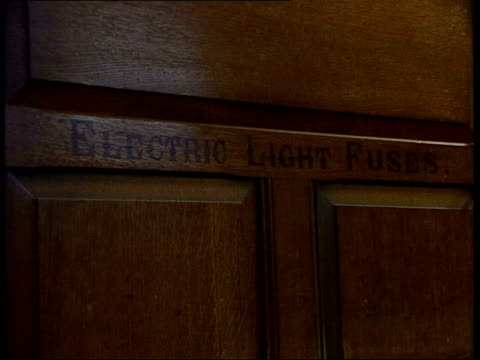 galleries and museums: victorian estate tyntesfield handed over to national trust; metal plate on floor with 'electric supply' on it tilt up to... - tyntesfield点の映像素材/bロール