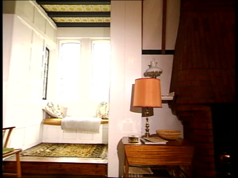 galleries and museums: william morris house bought by national trust; general views rooms inside house featuring large windows and light keyhole pull... - national trust video stock e b–roll