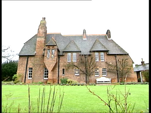 galleries and museums: william morris house bought by national trust; general view william morris' red house - national trust video stock e b–roll