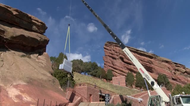 gallery a coloradobased manufacturer of mobile food carts and kiosks is installing new food carts at red rocks amphitheatre in advance of the venue's... - red rocks stock videos & royalty-free footage