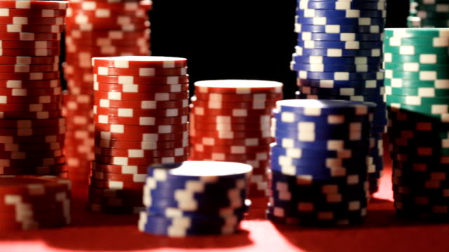 gambling casino chips   ga - gambling chip stock videos & royalty-free footage