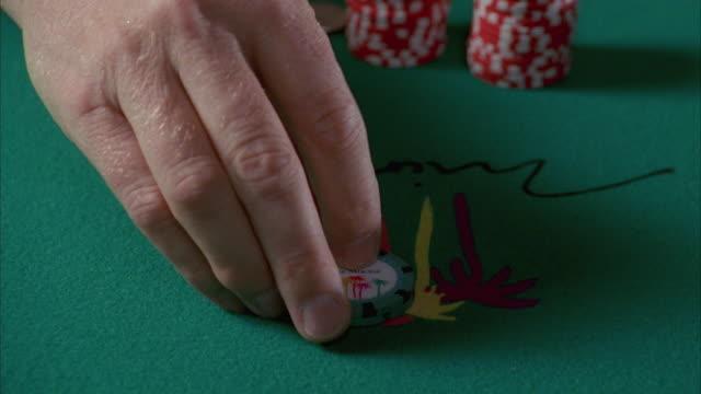 cu gambling chips on blackjack table, twenty five dollars being bet / las vegas, nevada, usa - blackjack stock videos and b-roll footage