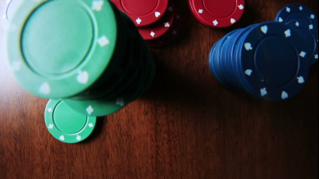 gambling poker   ga - gambling chip stock videos & royalty-free footage