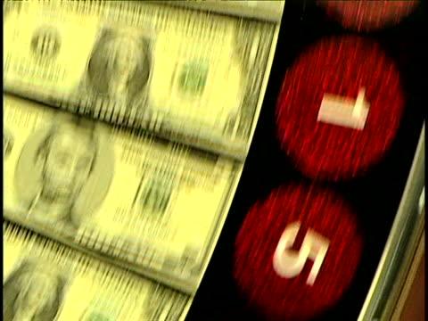 vídeos de stock e filmes b-roll de gambling - nota de cinco dólares dos estados unidos