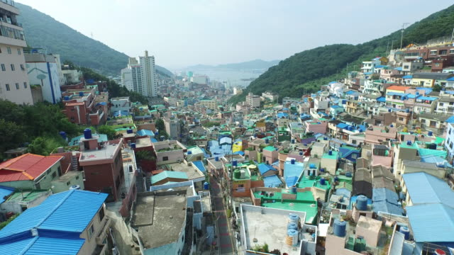 gamcheon culture village in saha-gu district, busan, south korea - busan stock videos & royalty-free footage