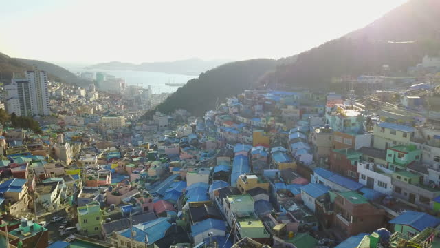 gamcheon culture village / saha-gu, busan, south korea - cable stock videos & royalty-free footage