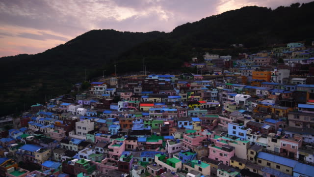 gamcheon culture village,busan in south korea - south korea stock videos & royalty-free footage