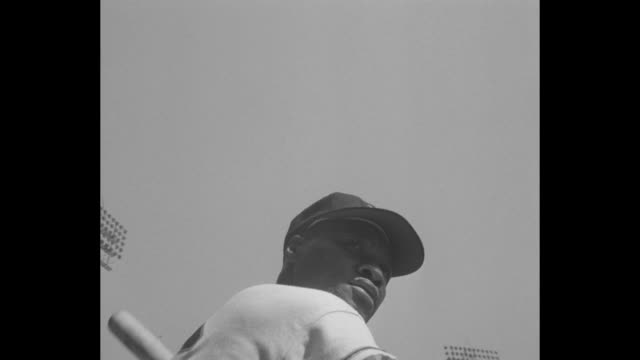 game 1 1954 world series between new york giants and cleveland indians at the polo grounds / cleveland pitcher bob lemon / giants' don mueller / men... - inning stock videos & royalty-free footage