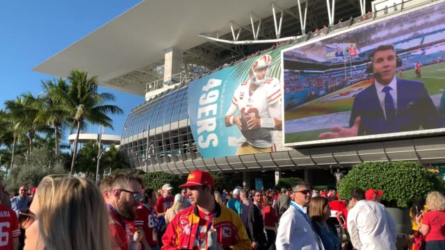 super bowl liv on february 02 2020 in miami florida - super bowl stock videos & royalty-free footage