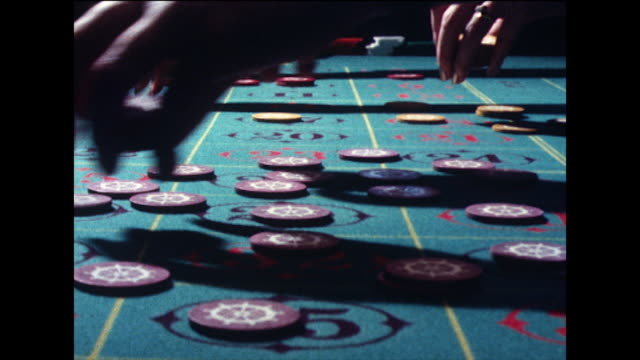 game of roulette being played in a casino; 1978 - loss stock videos & royalty-free footage