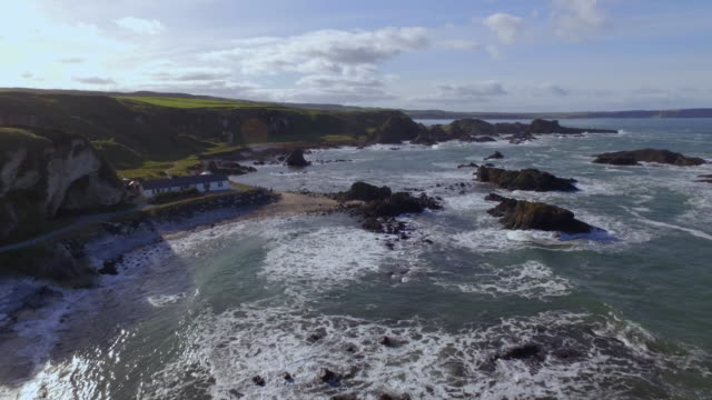 game of throne filming locations - aerial - northern ireland stock videos & royalty-free footage