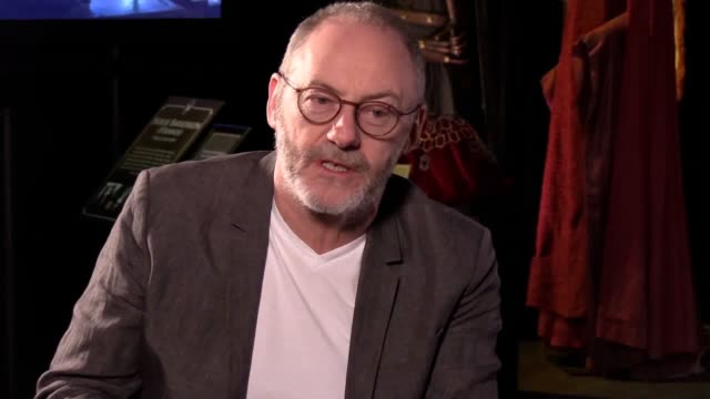 game of thrones actor liam cunningham who plays the character davos seaworth hits the ending of the fantasy epic will be bitter sweet and defends the... - liam cunningham stock videos & royalty-free footage