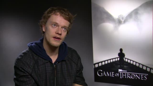 Game of Thrones junket Game of Thrones actor Alfie Allen interview SOT