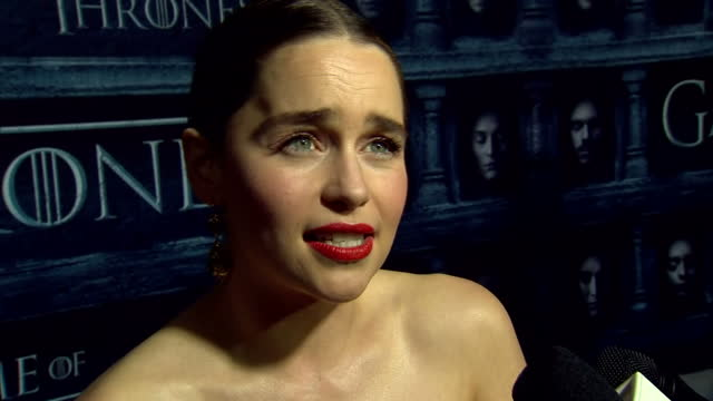 'Game of Thrones' season 6 world premiere takes place in Hollywood California Shows interview with actress Emilia Clarke who portrays Daenerys...