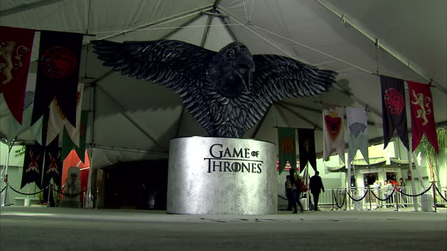'Game of Thrones' season 6 world premiere takes place in Hollywood California Shows red carpet set up from season six world premiere of 'Game of...