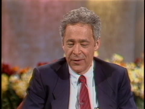 game show host chuck barris discusses the gong show during interview on the today show, and he says the show gave the contestants an exciting and fun... - gioco televisivo video stock e b–roll