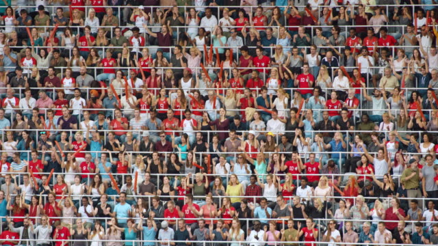 ld game spectators at the stadium clapping their hands to the music - excitement stock videos & royalty-free footage