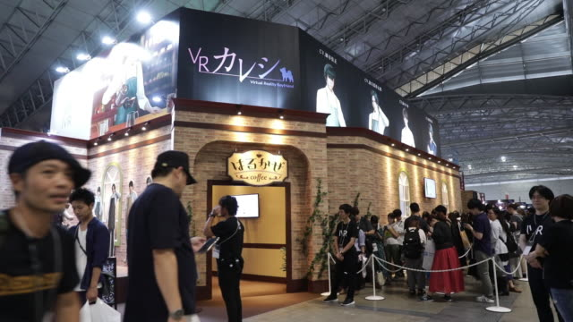 gamers at tokyo game show 2019 held in chiba, japan, on friday, sep 13, 2019. - game show stock videos & royalty-free footage