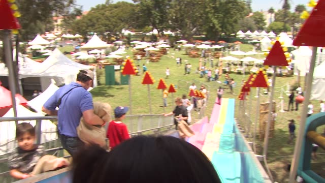 games at the 21st annual 'a time for heroes' celebrity picnic benefit at los angeles ca - a time for heroes stock videos & royalty-free footage