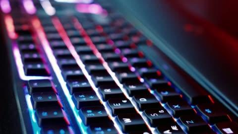 gaming keyboard - gambling stock videos & royalty-free footage