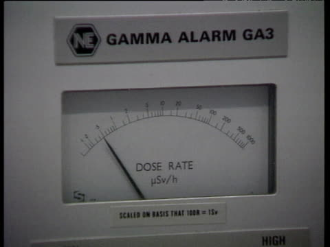 gamma alarm dial gamma alarm with lights and switches - radiation stock videos & royalty-free footage