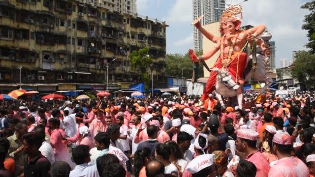 ganesh chaturthi festival, mumbai, india. - hinduism stock videos & royalty-free footage