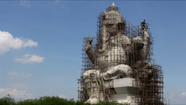 ganesha under construction in thailand timelaps - nepal stock videos & royalty-free footage