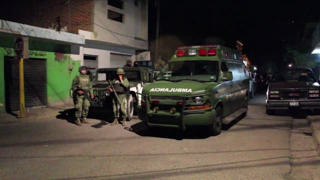 a gang ambush on federal police in western mexico killed five officers three suspects and two bystanders late thursday in the deadliest day for the... - ambush stock videos and b-roll footage