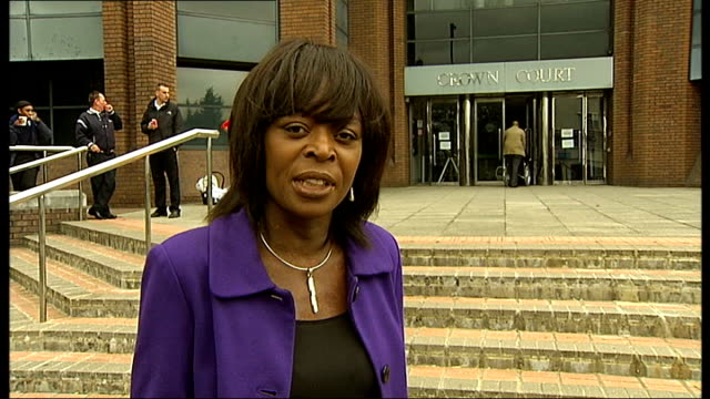 gang members jailed for sex trafficking in london harrow crown court reporter to camera martin interview sot - trafficking stock videos and b-roll footage