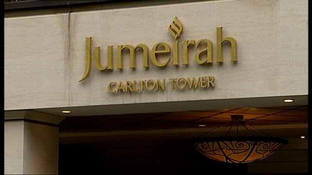 gang members jailed for sex trafficking in london sign for jumeirah carlton tower hotel - trafficking stock videos and b-roll footage