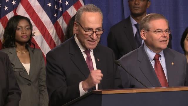 Gang of 8 bipartisan group of Senators introduce immigration reform / reforma migratorio Immgration Reform US Senate at Dirksen hearing room on April...