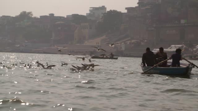 Ganges River little boats