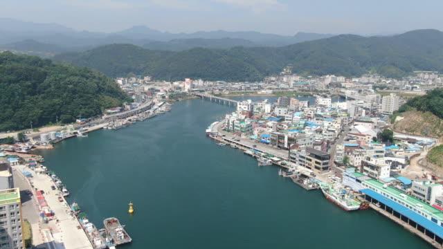 stockvideo's en b-roll-footage met gangguhang port / yeongdeok-gun, gyeongsangbuk-do, south korea - straatnaambord