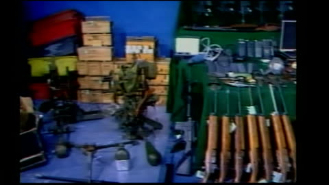 """gangland boss arrested after 16 years on the run; republic of ireland: dublin: int various shots arms cache from the """"marita anne"""" on show tx... - 16 17 years stock videos & royalty-free footage"""