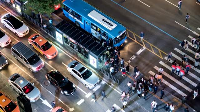 Gangnam bus station at night