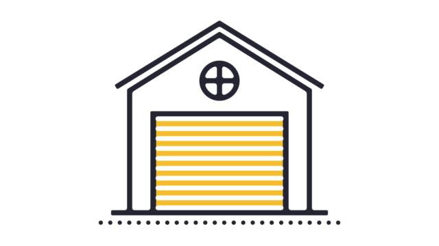 vídeos y material grabado en eventos de stock de animación del icono de garaje - carro blindado