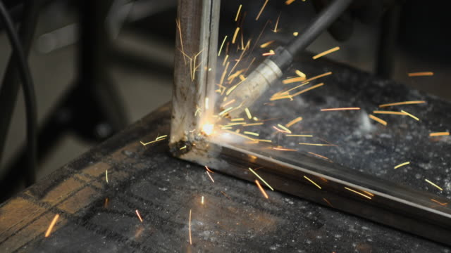 garage welder - one mid adult man only stock videos & royalty-free footage