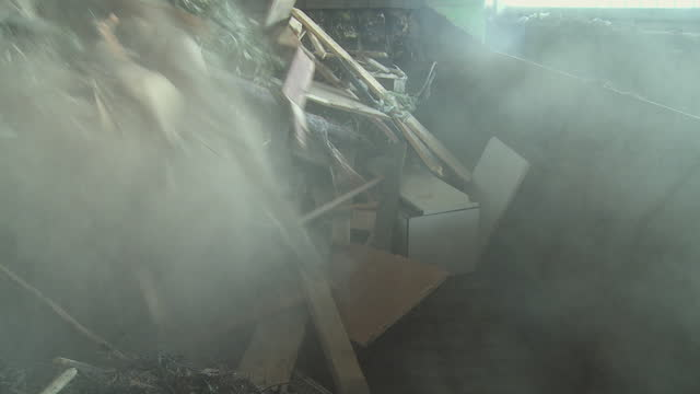 ms garbage being processed in recycling center, vrhnika, slovenia - vrhnika stock videos & royalty-free footage