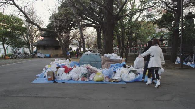 garbage disposal ueno park - rubbish dump stock videos & royalty-free footage