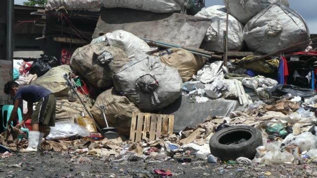 Garbage dump in Manila Philippines